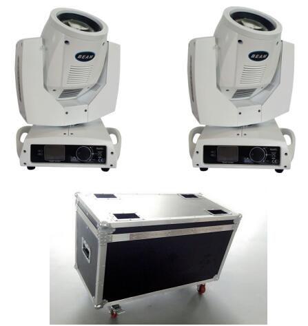 2 stücke Sharpy Strahl 230 Watt Bühne Strahl 7R Moving Head Licht mit Flightcase + 2 STÜCKE DMX Kabel 5 Mt