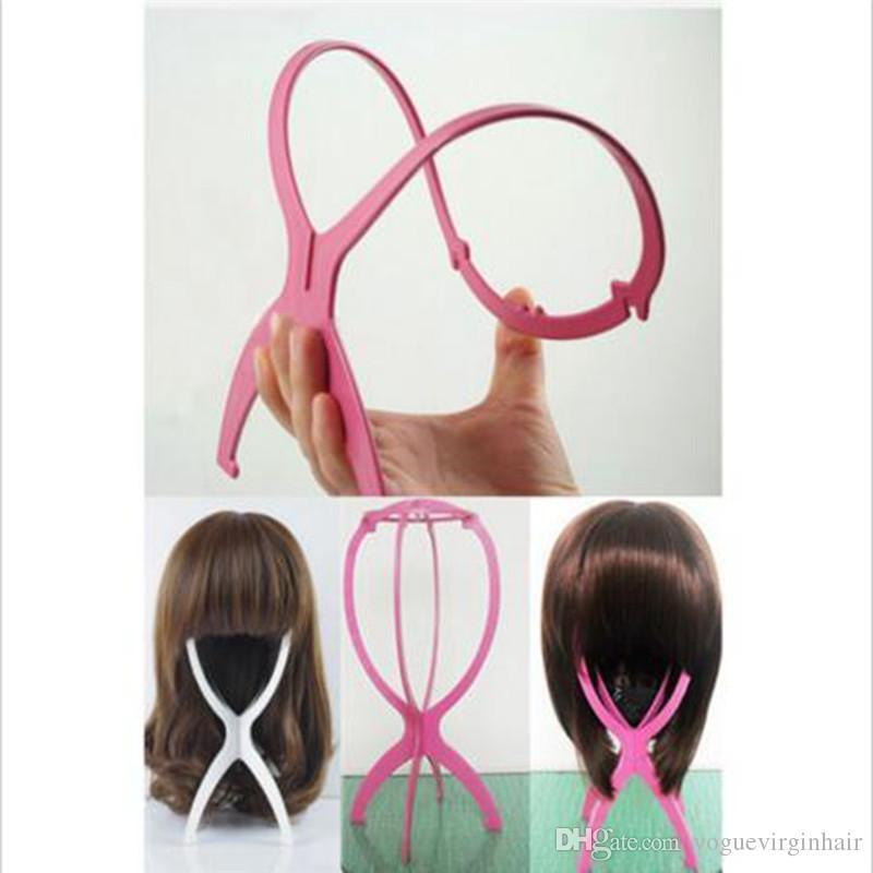 5pcs 저렴 한가 위 스탠드 접는 플라스틱가 발 스탠드 안정적인 내구성 머리 지원 표시가 발 모자 모자 홀더 머리 확장 도구 재고 있음