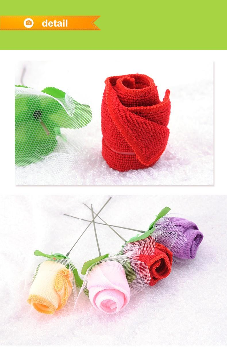 wedding towel ice cream rose flower hand towel for wedding table centerpieces decoration (12)