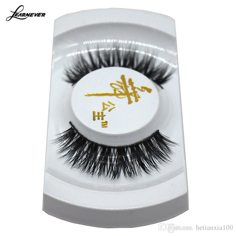 1 Par de preto 100% real Mink longas Natural Grosso do olho cílios negros cílios postiços Make up