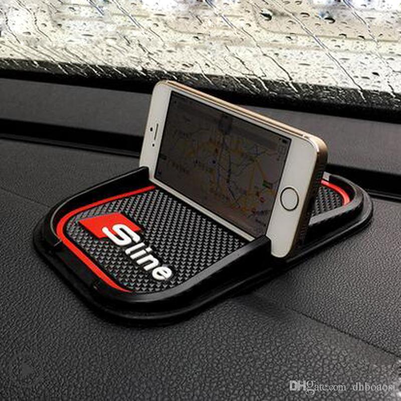 Autocollant de support GPS de téléphone antidérapant pour Audi A2 A3 A4 A6 A8 A7 TT Q3 Q5 Q7 RS3 RS5 RS7