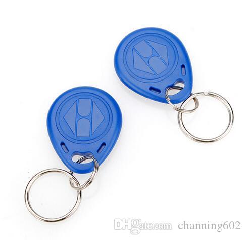 100 pcs porte-clés cartes ISO11785 Tk4100 / EM4100 125 kHz porte-clés en plastique personnalisé porte-clés porte-étiquette en plastique