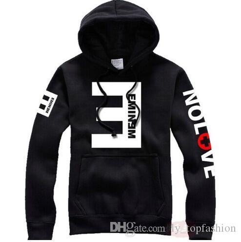 2020 d'hiver Sweats à capuche en molleton pour hommes Eminem imprimé Thicken Sweat-shirt Homme Vêtements de sport Mode