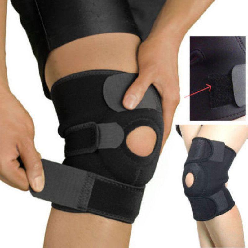 Mayitr 1 шт. Черный эластичный коленный бандаж регулируемые коленные ремни поддержка безопасности гвардии для спорта работает