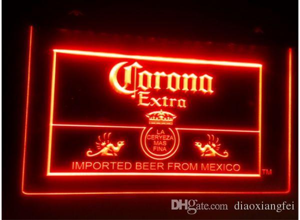 كورونا المكسيك البيرة بار حانة نادي 3d علامات الصمام ضوء النيون تسجيل ديكور المنزل الحرف