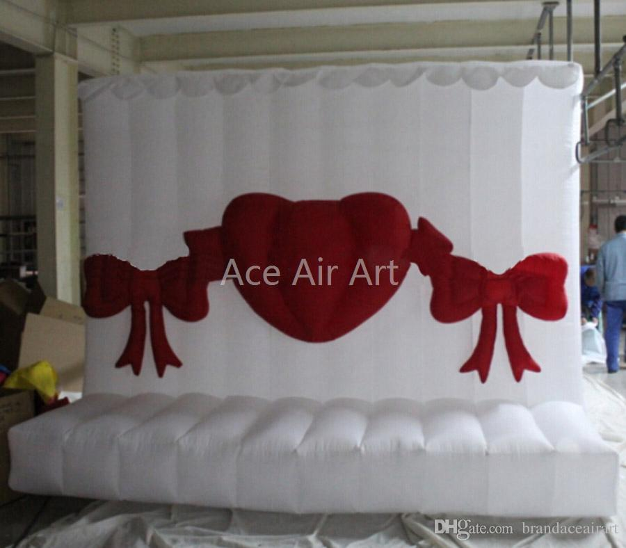 continuous blowing wedding or Valentine wall, inflatable portable photo walls,Photo backdrop/back ground for sale for sale
