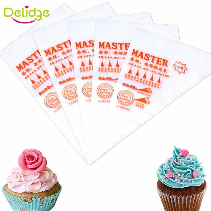 Delidge 100 pcs/set 17*26 cm Cake Decorating Bag Baking Disposable Piping Bag Icing Nozzle Fondant Cake Cream Decorating Bag