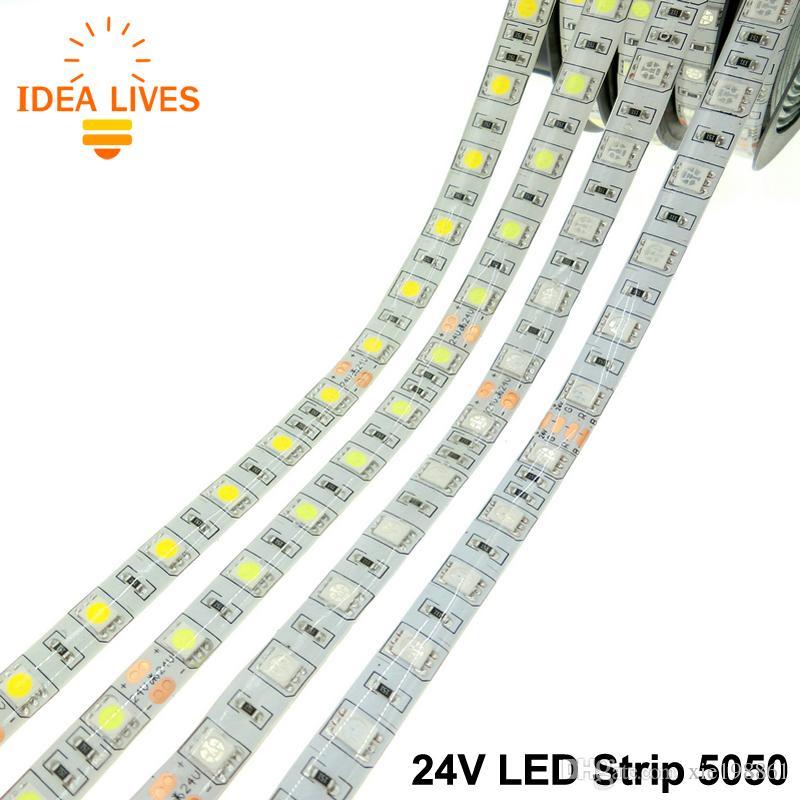 DC24V светодиодные полосы 5050 Гибкие светодиодные RGB светодиодные полосы 60 светодиодов / М 5 м / лот.