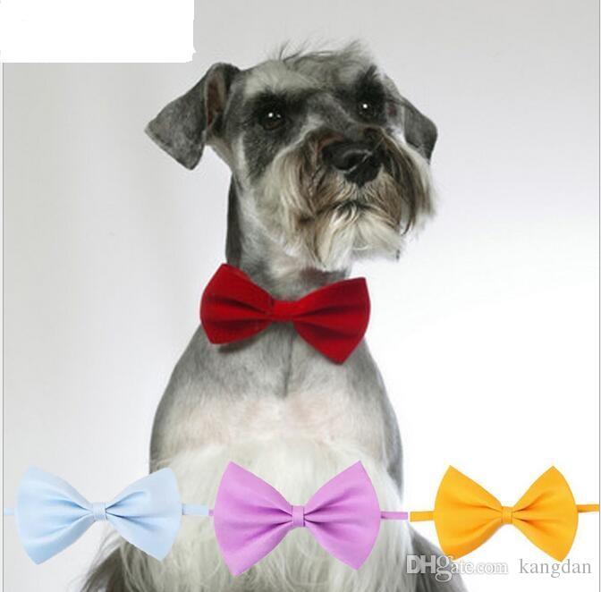 Fashion Polyester Silk Pet Dog Tie Regolabile Belle legami Cravatta Cane Cane Cat Grooming Forniture Animali Abbigliamento Prodotti