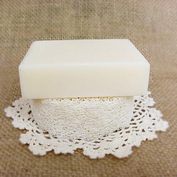 100 pçs / loteNatural Loofah Luffa Loofa Fatias, handmade DIY personalizar Bucha ferramentas de sabão, limpador, esponja purificador, sabão facial titular