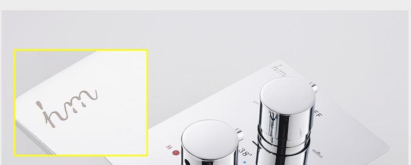 hm Bathroom Shower Head with 4 Ways SUS304 20inch Rain & Mist & Brass Slide Bar & Brass Spout & Brass Handheld Shower Set (18)
