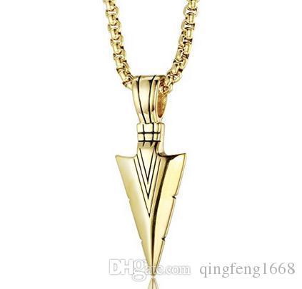 Europa und die Vereinigten Staaten personalisierte Temperament Halskette Titan Stahl Pfeil Anhänger Halskette