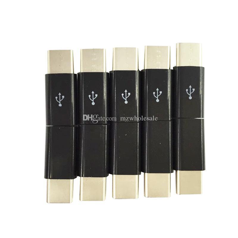 черный Micro usb Тип C адаптер USB C кабель зарядное устройство для Macbook xiaomi USB 3.1 Type-C адаптер цвет