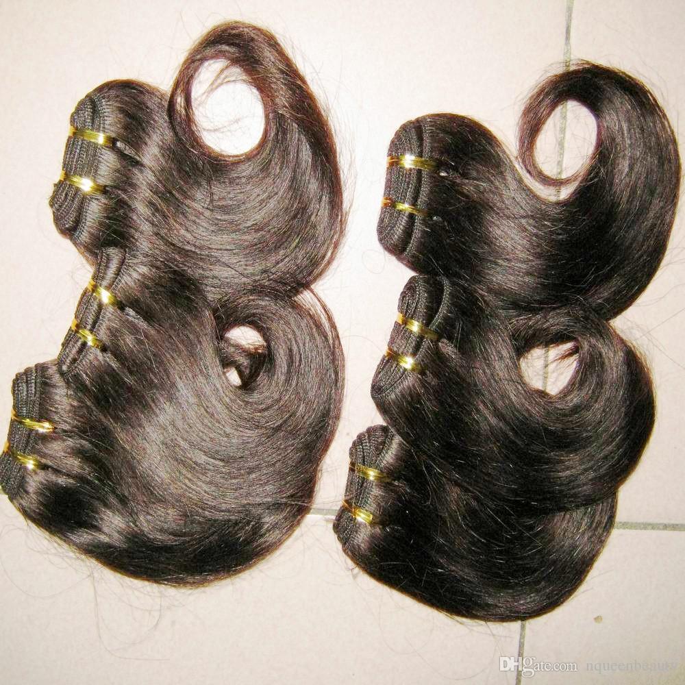 الأخت الأفريقية شراء بالجملة الشعر غير المجهزة البرازيلي ريمي التمديد قصيرة نسج موجة 20pcs / lot