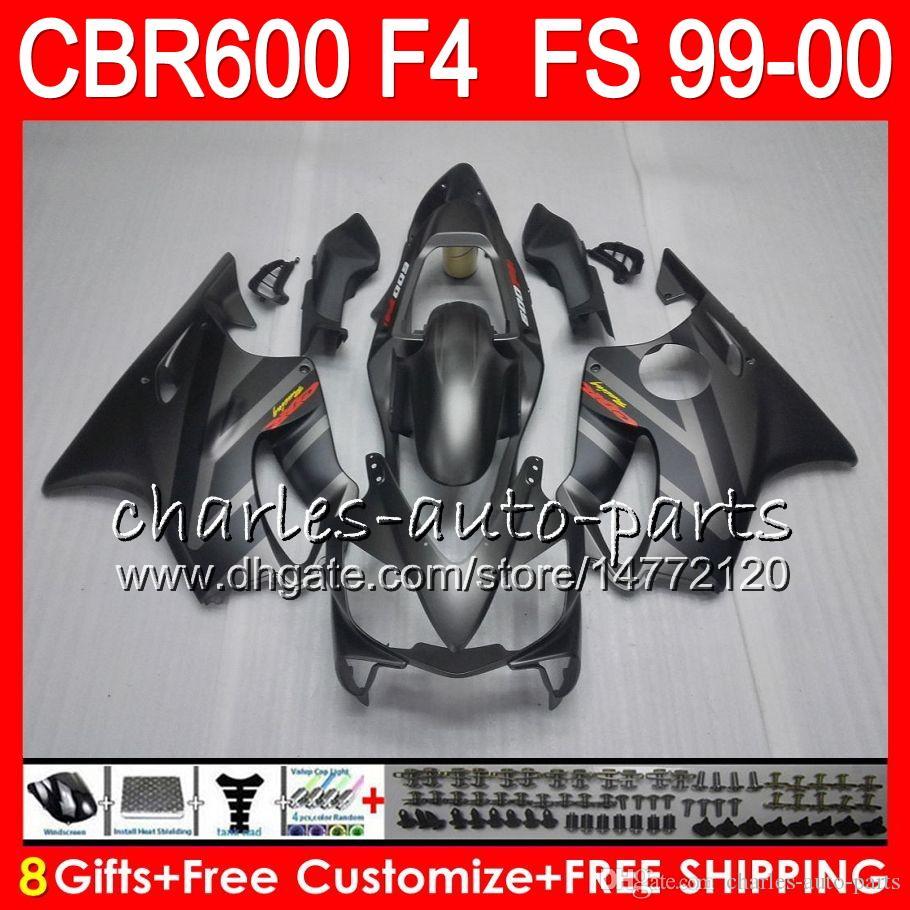 8Gifts 23 kleuren carrosserie voor HONDA CBR 600 F4 99-00 CBR600FS FS 30HM16 CBR600 F4 1999 2000 CBR 600F4 CBR600F4 99 00 Kuiken Zilver Zwart