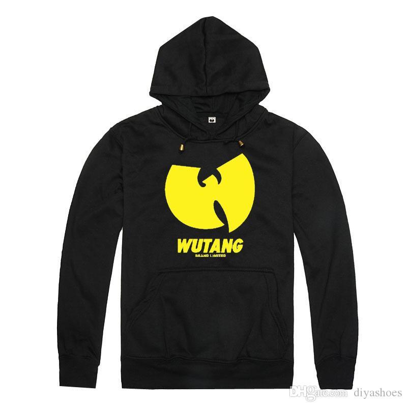 Atacado venda quente primavera e outono inverno novo wutang com chapéu camisola moda hip hop manga comprida com capuz 100% algodão solto plus size xxl