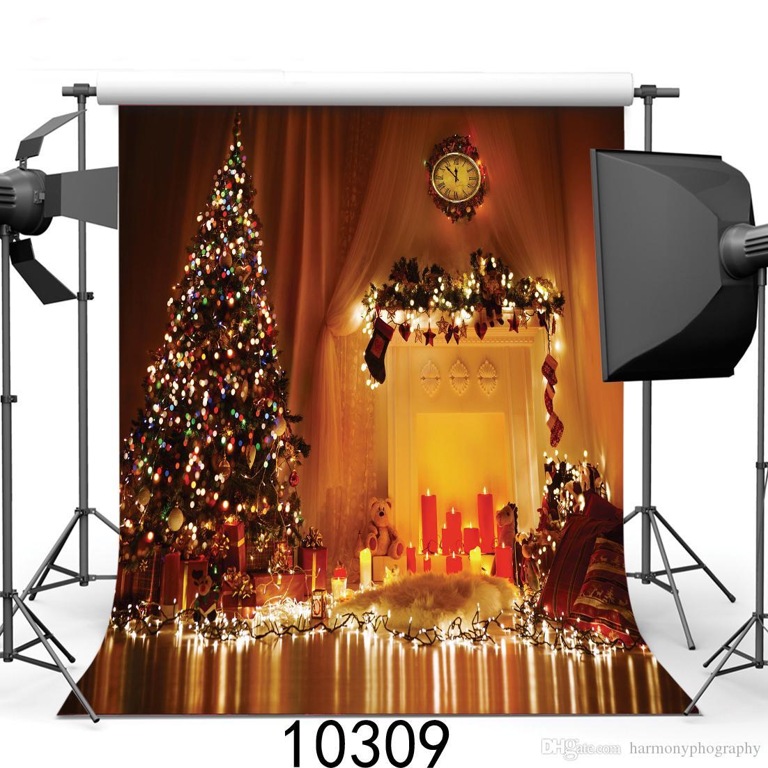 Рождество 5x7ft камера fotografica фонов винил ткань фотографии фоны свадебные Дети Детские фон для фотостудии 10309