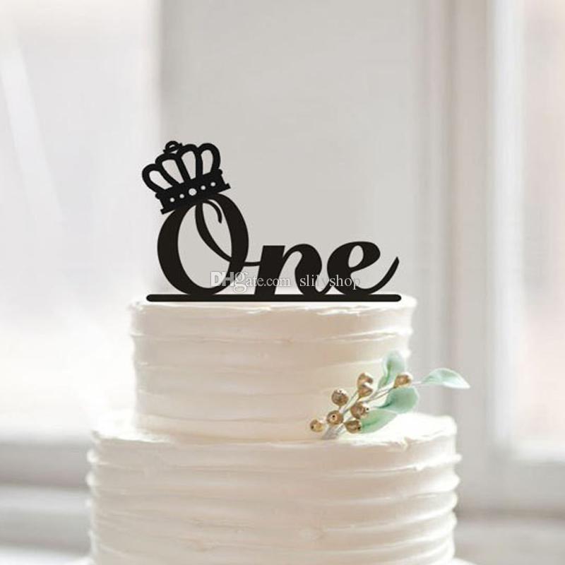 Strange One Cake Topper First Birthday Cake Topper With Crown Monogram Funny Birthday Cards Online Benoljebrpdamsfinfo