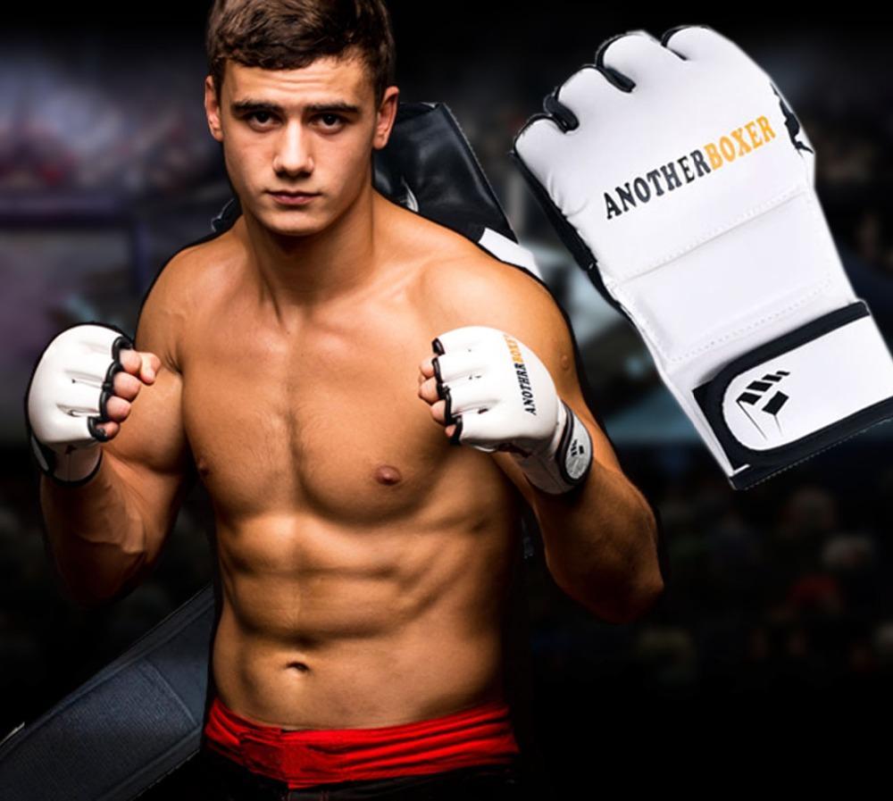 نصف جديد إصبع الملاكمة التايلاندية قفازات الملاكمة guanti التدريب قفازات الرياضة اللياقة البدنية القتال boxeo ركلة قفازات الملاكمة