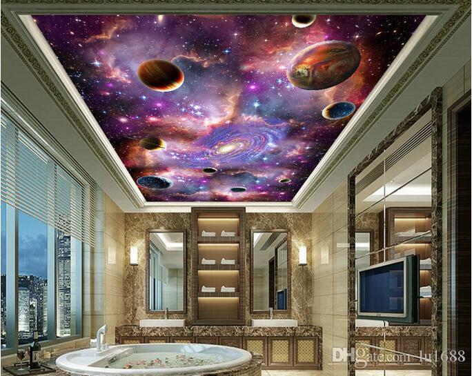 Space Galaxy 3d Ceiling Ceiling Mural Large Mural Wallpaper Living Room Bedroom Wallpaper Painting Tv Backdrop 3d Wallpapers Butterfly Wallpaper Buy Wallpaper From Lu1688 23 92 Dhgate Com