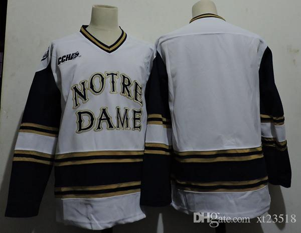 72e584a9f 2019 Mens Custom Notre Dame Hockey Jersey Cal Burke Andrew Peeke ...