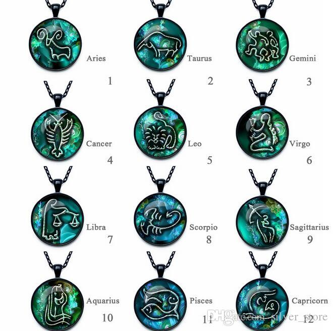 High quality Twelve Seasons Time Gemstone Glass Necklace Pendant Jewelry WFN357 (with chain) mix order 20 pieces a lot