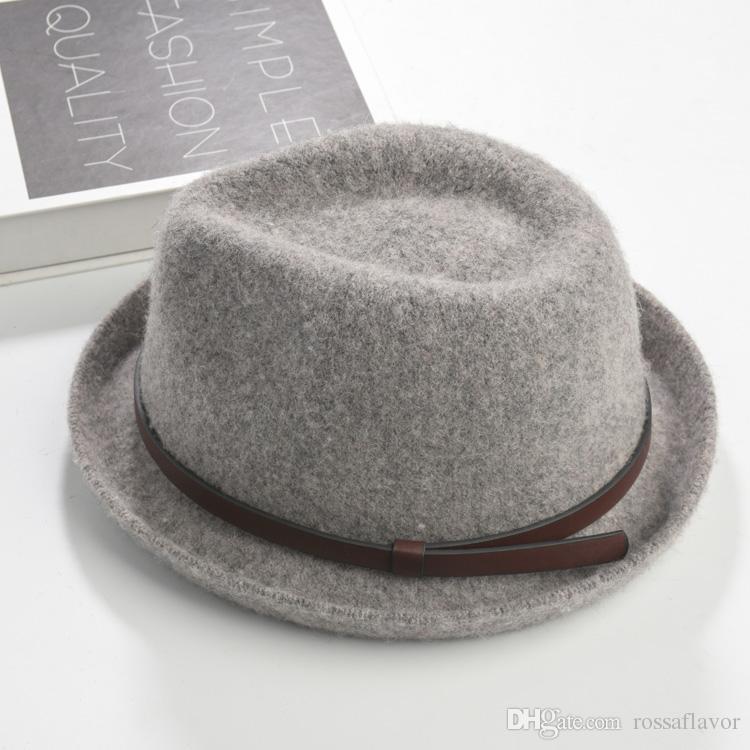Brand New Fashion Pure men Women's cap Large Brim Caps fedoras Floppy Jazz hat Vintage Popular wool caps women's hat flat top hat Great