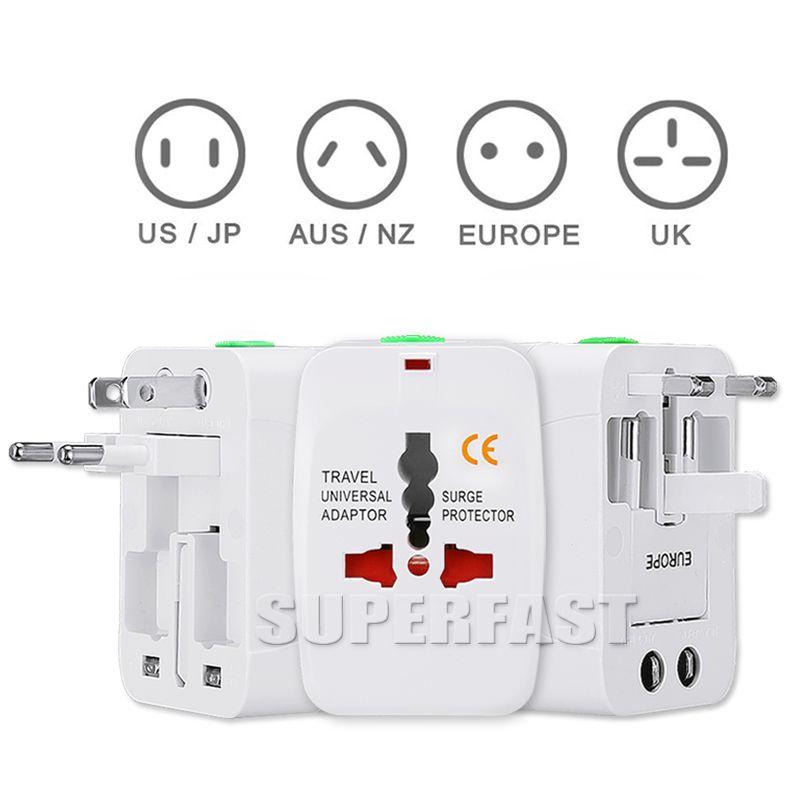 Универсальный международный адаптер все в одном путешествия переменного тока зарядное устройство для нас ЕС Великобритания AU конвертер штекер с розничной упаковке