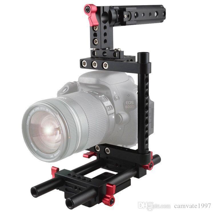 Canon Nikon Sony Panasonnic için Ray Destek Sistemli CAMVATE Kamera Kafesi