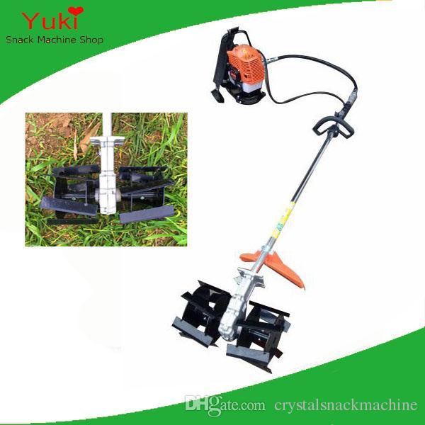 Sıcak 4 zamanlı fırça kesici mini benzinli güç weeder çiftlik makinesi kültivatör weeder mısır ayıklayacaktır makinesi
