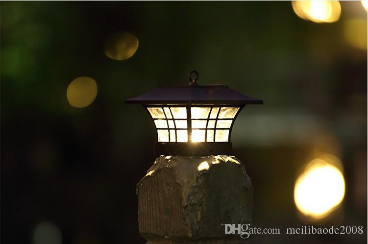 Transccego Luz solar para jardín impermeable LED Lámpara solar Lámpara solar de paisaje al aire libre Luces de patio Cerca del hogar Poste Posquero Lámparas Llfa