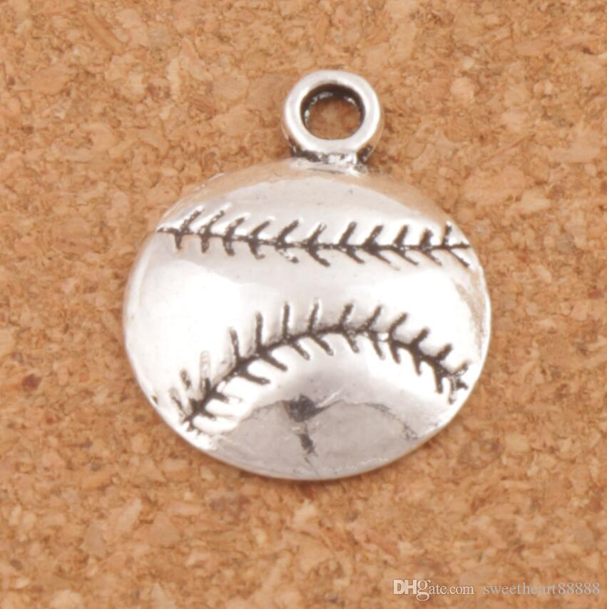 Baseball Sports Charms Pendants 200pcs/lot Antique Silver Jewelry DIY L286 14.5x18 mm Jewelry Findings Components