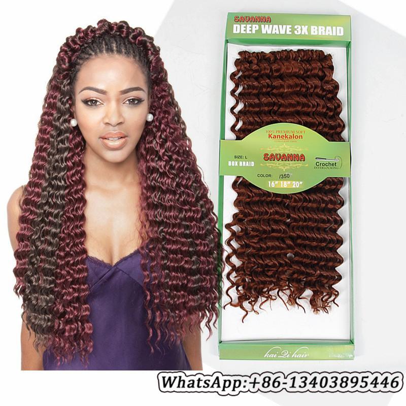 Deep Wave Braiding Hair Mixed Length 16 18 20inch Omber Long Curly Weave Hairstyle For Women Crochet Hair Extension Cheap Hair Accessories Cheap Hair