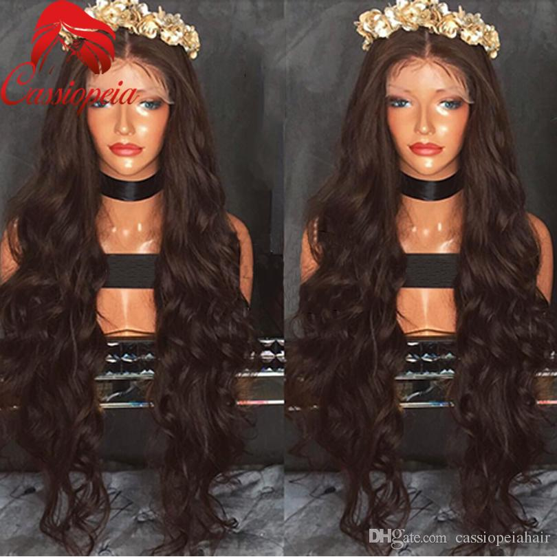 Body Wave Lace Front Wig For Black Women Middle Part Glueless Full Lace Wigs 100%Virgin Human Hair Brazilian 8A Grade Hot Sale