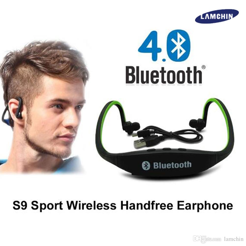 S9 Bluetooth Wireless Stereo Headset Sports Bluetooth Speaker Neckband Earphone Bluetooth 4.0 With Retail Package