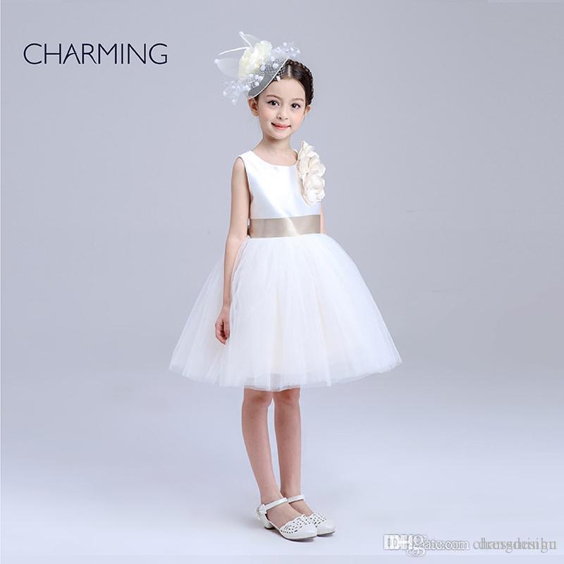 Filles Princesse Robe de Soirée Enfants Fleur Fille Mariage JR demoiselle d/'honneur Pageant formelle