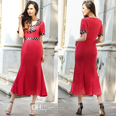 2f4ed19d03 ... 2018 new European station women dress dress Europe and the United  States wear OL dress skirt ...