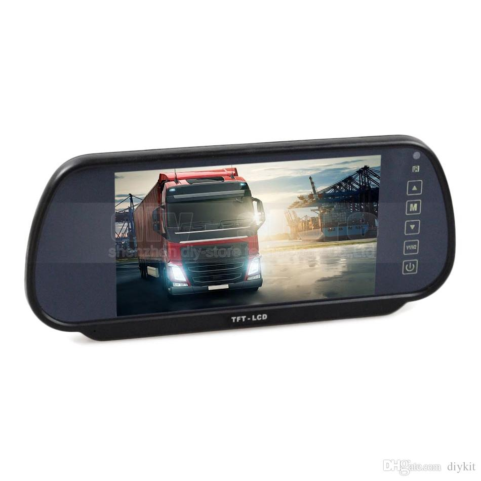 7inch Rear View Mirror Monitor Car Montior Parking Assistance System Kit for Car Camera / DVD / VCD
