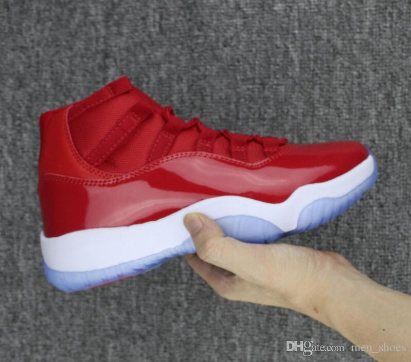 biggest selection discount price various kinds of New 11s Gym Red Win Like 96 Chicago Basketball Shoes Men Women 11 Gym Red  Black White Sneakers High Quality With Shoes Box Cheap Shoes 4e Basketball  ...