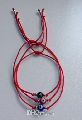 Nylon Evil Eye Red String Kabbalah Bracelet Bead Good Luck Charm Protection Cuff Bracelets Bangle Jewelry Gift Punk Accessories HOT 20Pcs
