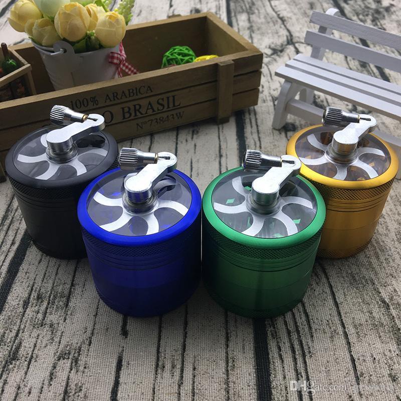 4 strati Herb Tabacco Spice Grass Grinder Usa Smoke Crusher Manovella Muller Mill Accessori per fumatori