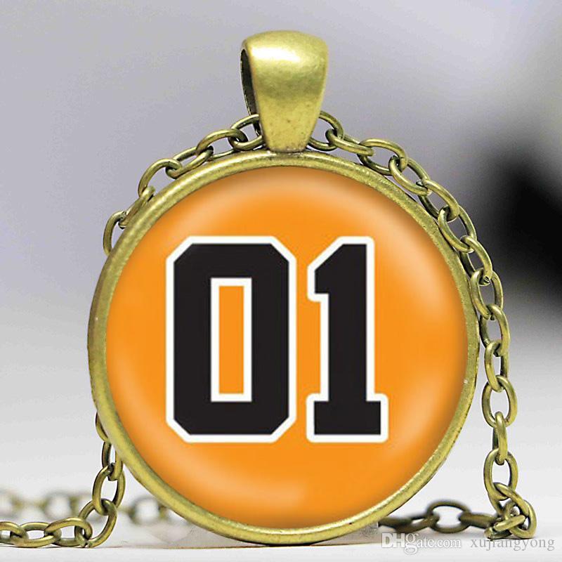 General Color Ювелирные Изделия Ожерелье Hazzard Bronze Lee Car Men Reference Dukes Мода Серебро 01 И Черные Фотофинтированные Ювелирные Изделия CACMP