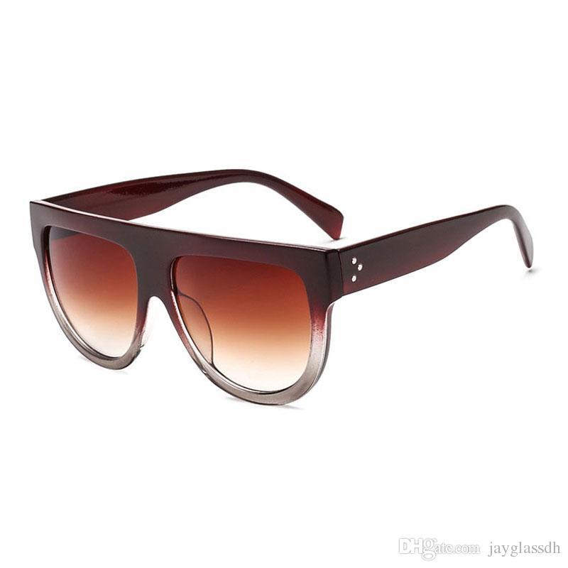 تعزيز السعر جديد أزياء ساحة نظارات المرأة ريترو العلامة التجارية مصمم النظارات للنساء شقة الأعلى المتضخم نظارات uv400 oculos