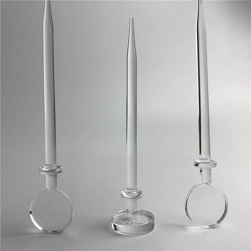 Cap da 5 pollici al quarzo Cap DABBER WAX DAB Tool Hookah utensile con 6 mm Spessa trasparente universale lecca-lecca in stile Banger Banger