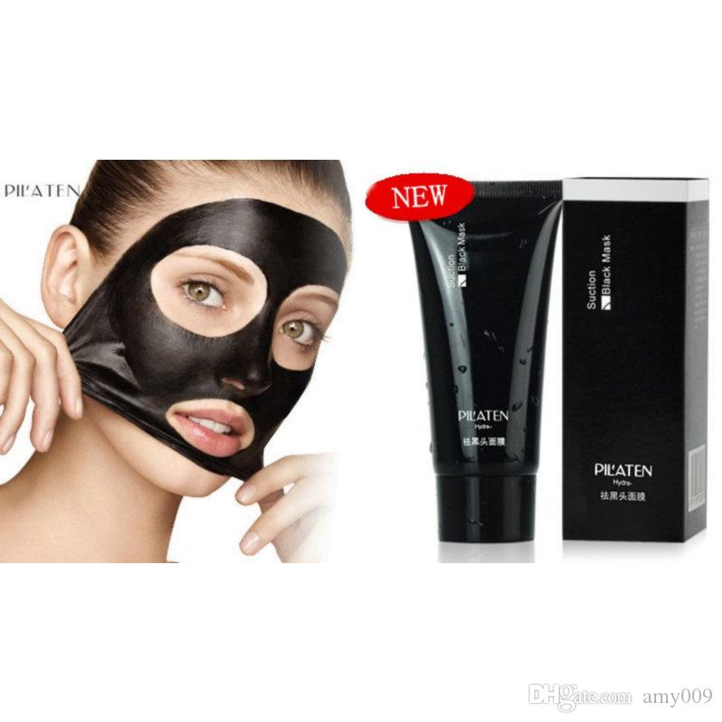 001 PILATEN Black mask Tearing style Deep Cleansing purifying peel off the Blackhead acne treatment black mud of black heads remover 60g