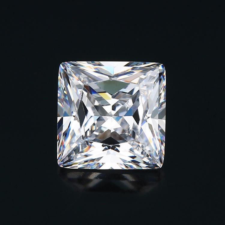 Tamaño 1.5x1.5 ~ Forma 15x15mm 5A blanca del cuadrado del color circonio cúbico de piedra suelta piedra de la CZ corte princesa gemas sintéticas para la venta