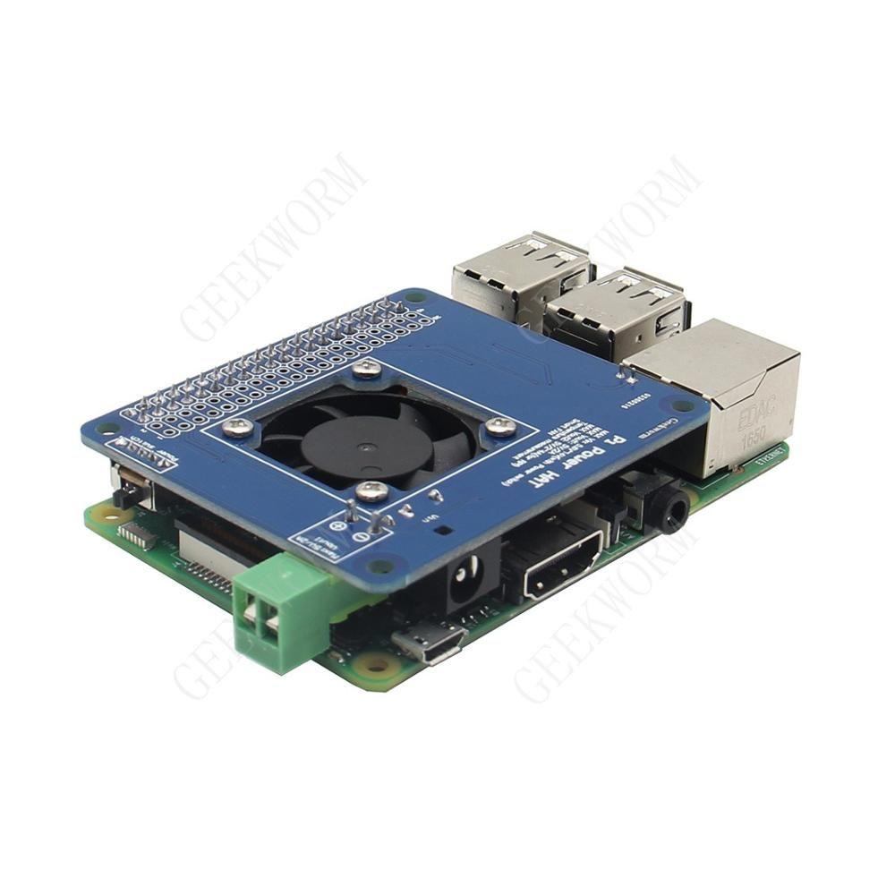 Freeshipping Raspberry Pi 3 Modello B / 2B programmabile intelligente Temperatura Fan Control + Power Hat user | Ingresso 6V ~ 14V | DC 5V Max. 4A out