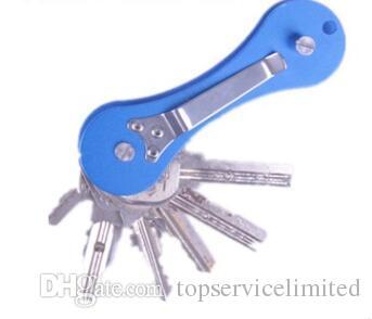 Брелок мульти инструмент Горячий Ключ организатор складной ключи зажим EDC держатель карманный алюминиевый ключ бар EDC выживания Gear