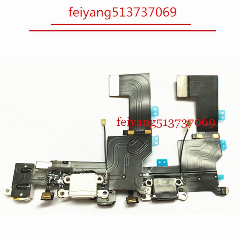 100pcs High Quality Charger Dock USB Charging Port Headphone Jack Flex Cable For Iphone 5s by DHL EMS