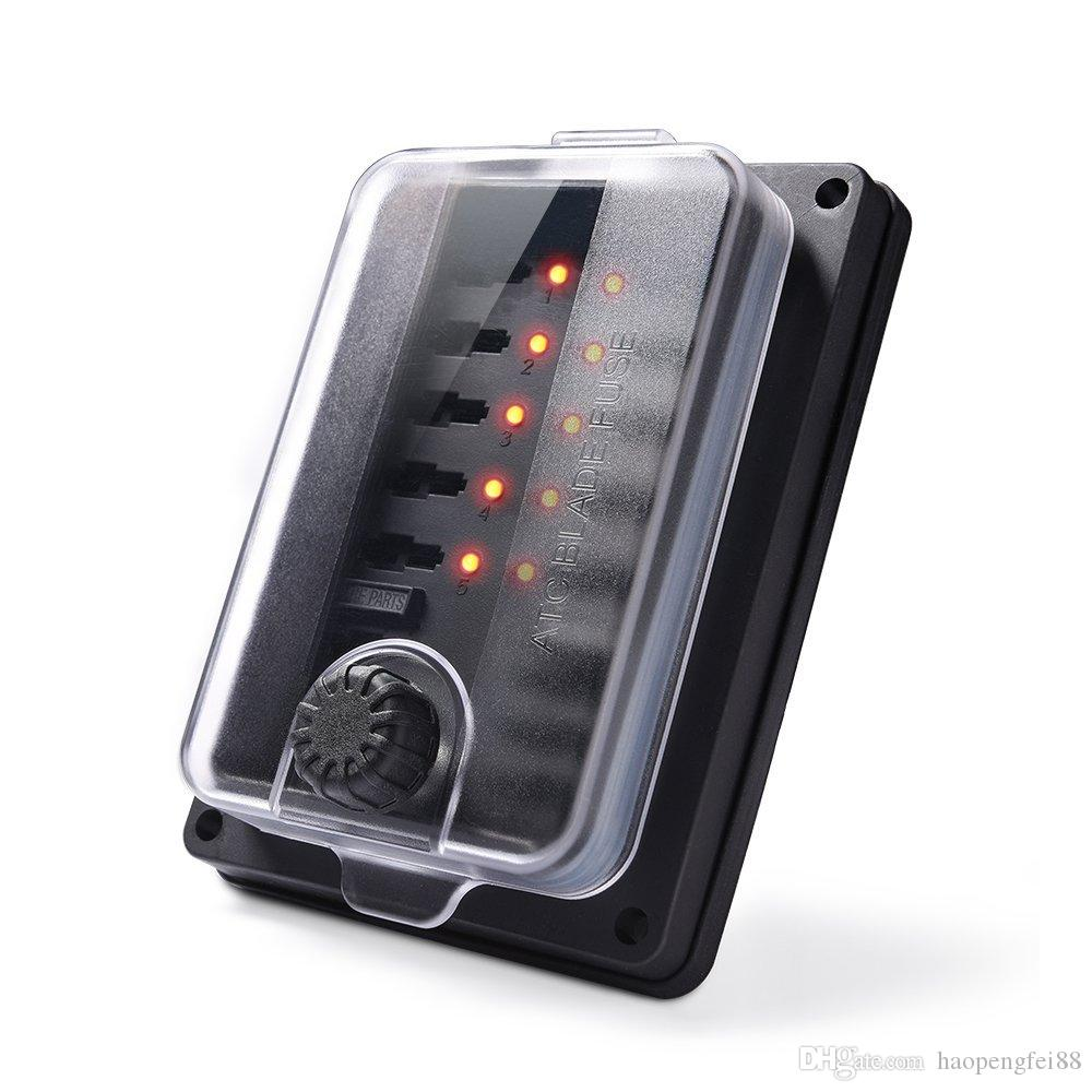 UK 10 Way Blade Fuse Box Holder ATC ATO LED Indicator Waterproof IP56 12V Marine